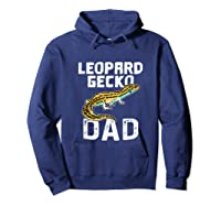 Funny Leopard Gecko Graphic Lizard Lover Reptile Dad Gift T-shirt Hoodie Navy
