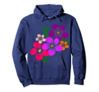Blooming Flower, Blooms, Blossoms, Garden, Bunch Of Flowers T-shirt Hoodie Navy