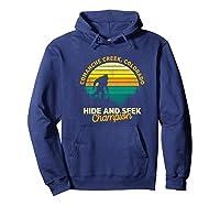 Retro Comanche Creek, Colorado Big Foot Souvenir Shirts Hoodie Navy
