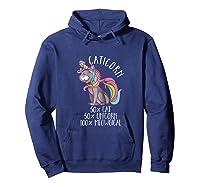 Caticorn Magical Unicorn Cat Animal Lover Gift Shirts Hoodie Navy