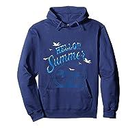 Maglietta Hello Summer Shirts Hoodie Navy