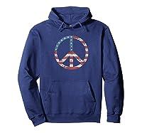 Peace Vintage American Flag Shirts Hoodie Navy