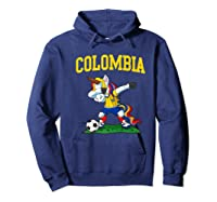 Dabbing Soccer Colombia Unicorn Colombian Football Shirts Hoodie Navy
