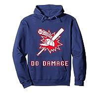 Done Damage Red Boston Championship Baseball Fan Awesome T-shirt Hoodie Navy