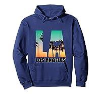 Los Angeles Design La Palm Tree Sunset Boulevard T-shirt Hoodie Navy
