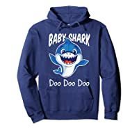 Baby Shark Doo Doo Birthday Party Gifts Girl Boy Out T-shirt Hoodie Navy