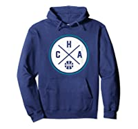 Classic Charlotte Basketball Cha Outline T-shirt Hoodie Navy