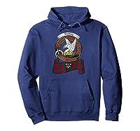 Lindsay Scottish Clan Badge Tartan Shirts Hoodie Navy