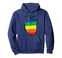 Rainbow Anatomical Lgbt Flag Heart Shirts Hoodie Navy