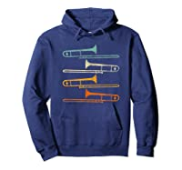 Retro 70's Funny For Trombonist Shirts Hoodie Navy