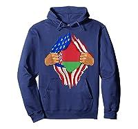 Belarusian Blood Inside Me Belarus Flag Gift Shirts Hoodie Navy