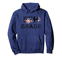 5th Grade Floral T-shirt Back To School Tea Flower Gift Hoodie Navy