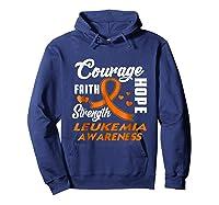 Leukemia Awareness Warrior Wear Orange Hope Gifts Shirts Hoodie Navy