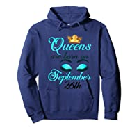 Libra Birthday Queens Are Born On September 26th Libra Girl Shirts Hoodie Navy
