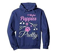 Pet Grooming For Cute Groomer Gift Shirts Hoodie Navy
