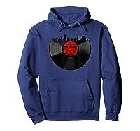 San Antonio Vinyl Record Hipster Musical San Antonio Skyline T-shirt Hoodie Navy