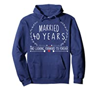 Wedding Anniversary 40th Gifts For Her Him Couples Shirts Hoodie Navy