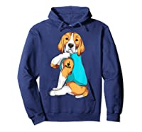 Beagle I Love Mom Apparel, Dog Mom Gifts Shirts Hoodie Navy