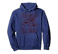 Sesame Street Crunch Characters T Shirt Hoodie Navy