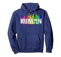 Human Flag Lgbt Gay Pride Transgender Gift Premium T-shirt Hoodie Navy