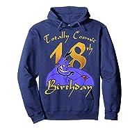 Disney Aladdin Genie Totally Cosmic 18th Birthday T-shirt Hoodie Navy