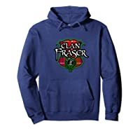 Fraser Surname Scottish Clan Tartan Shield Badge Shirts Hoodie Navy