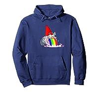 Rainbow Puking Gnome Gravity Inspired Big Dipper Falls Ts Shirts Hoodie Navy