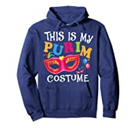 This Is My Purim Costume Jewish Purim Gift Shirts Hoodie Navy