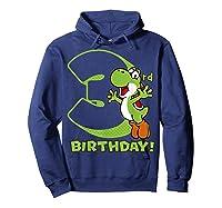 Super Mario Yoshi 3rd Birthday Action Portrait T-shirt Hoodie Navy