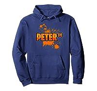 S Hi I\\\'m Peter Funny Couples Halloween Pumpkin Eater Premium T-shirt Hoodie Navy