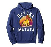 Disney The Lion King Simba Hakuna Matata Pride Rock Portrait Premium T-shirt Hoodie Navy