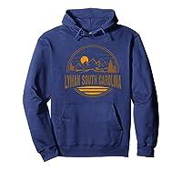 Vintage Lyman, South Carolina Mountain Hiking Print Premium T-shirt Hoodie Navy