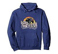 Mount Rushmore Monster Truck Retro Vintage Sunset Shirts Hoodie Navy