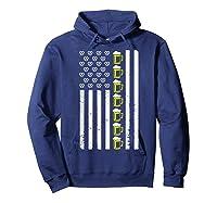 Funny Oktoberfes American Flag Beer Pretzel Shirts Hoodie Navy