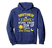 Mother's Day Mother Of 3 Shirts Hoodie Navy