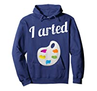Arted Shirts Hoodie Navy