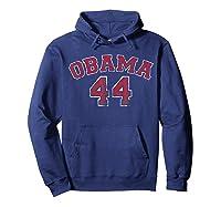 Obama 44 Basketball Shirt Distressed Vintage Tee T-shirt Hoodie Navy