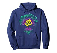 Tree Of Life Shanti Patha Om Yoga Prayer Shirts Hoodie Navy