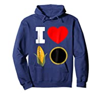 Cornhole Shirts For And . I Love Cornhole Tee Hoodie Navy