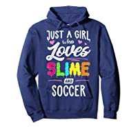 Just A Girl Who Loves E And Soccer Gift Shirts Hoodie Navy
