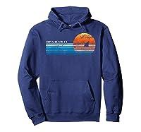 Vintage China Beach, Ca Retro 80s Shark Fin Sunset Shirts Hoodie Navy