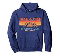 Oklahoma Vintage Take A Hike Wardville Moutain T-shirt Hoodie Navy