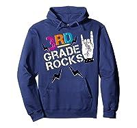 3rd Grade Rocks, 1st Day Of School Shirt Students Teas Hoodie Navy