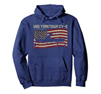 Uss Yorktown Cv-5 Gift For A Us Military Veteran T-shirt Hoodie Navy