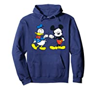Disney Mickey Mouse And Donald Duck Best Friends T-shirt Hoodie Navy