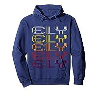 Ely, Nv Vintage Style Nevada Shirts Hoodie Navy
