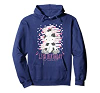 12th Birthday Princess Girl 12 Years Old Cow Lover B Day Shirts Hoodie Navy