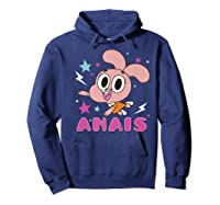The Amazing World Of Gumball Anais Portrait Shirts Hoodie Navy