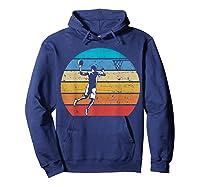 Vintage Basketball Retro Vintage Style Basketball Gift Shirts Hoodie Navy