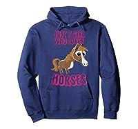 Just A Horse Girl T-shirt Hoodie Navy